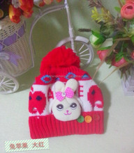 Knitted Beanie hat/baby hat for winter / child hat knitted hat supplier