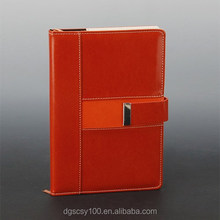 Red metal buckle bind new type promotion typing A4 A5 journal/ note book