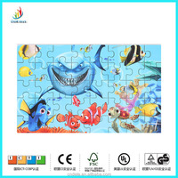 sea world pictures jigsaw puzzle educational toy 40pices double size wooden toy puzzle