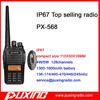 two way radio PX-568 IP67 compact size PUXING OEM new design encryption+vox