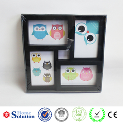 2015 new SGS multiple frames photo black photo frames designs top quality square picture frame supplier