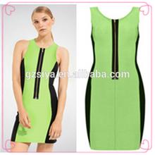 Verano caliente del estilo del vestido de Color Jade verde vestido de venta al por mayor