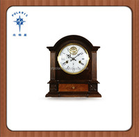 China Polaris hot sale decorative wooden table clock