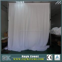 wedding pipe and drape backdrop chiffon wall drapery