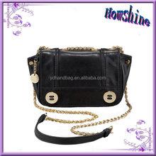 High Quality Fashion Design Guangzhou Leather Bags Wolesale Handbag with Long Chain