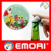 Japan hottest sales stainless steel cartoon Magnetic Badge shape fridge magnet with Bottle beer Opener
