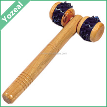 Professional wooden body face massager roller