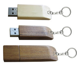 Bulk Engraving Logo Wooden USB Flash Drive with Different Trees Texture for Promotion. Customized Logo Available.