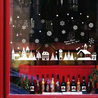 christmas door window sticker new year decoration Item SIS-25 in stock
