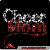 Wholesale Hotfix Cheer Mom Iron On Transfer For Sport T Shirt Cheap Price