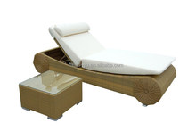 lounge furniture adjustable height wicker sunbed waterproof outdoor daybed covers