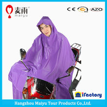 high quality double hood scooter factory poncho for adult