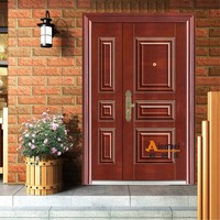 outdoor advertising material cheap exterior steel door