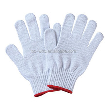 Bleached working gloves seemless knitted cotton glove