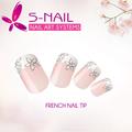 acrílico falso francesa falsas uñas consejos de arte de uñas