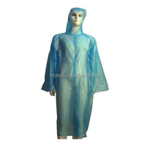 plastic one time PE disposable rain coat