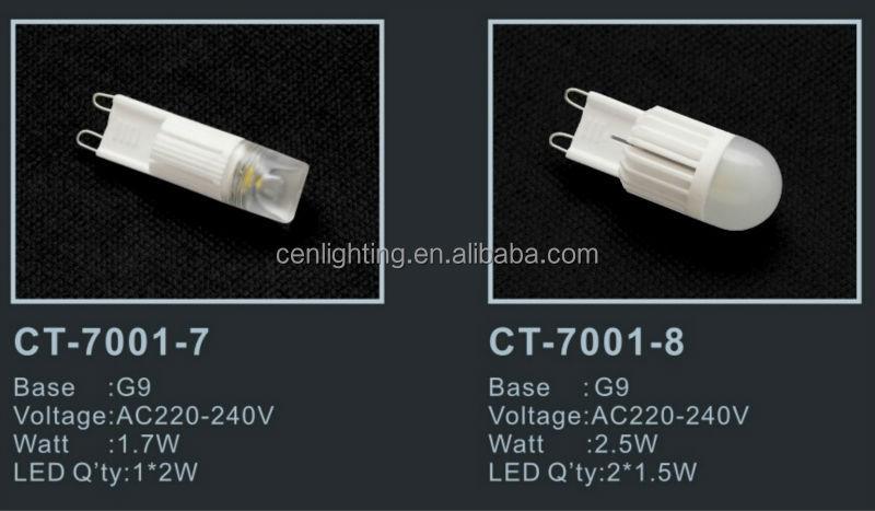 High Lumen ceramic 2W LED G9 Lamp