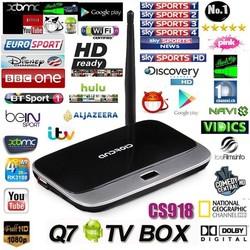 XBMC fully loaded MK888 Q7 cs918 Android4.4 TV Box RK3188 2GB/8GB Quad Core Mini PC Smart TV Media Player CS918