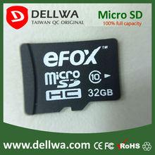 Taiwan brand high quality eFOX full capacity 32GB micro sd card