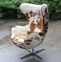 egg chair/used egg chair for sale/Replica Arne Jacobsen Cow Hide Leather Egg Shape Chair