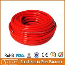 "Jinguan CE Certificate ISO BS EN 3821: 2010 9mm 3/8"" Soft Red Shiny PVC Gas LPG Hose Pipes, PVC Gas Hose, Rubber Gas Hose Pipe"