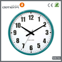 decorative big size metal wall clocks with weather station