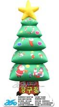 HD Digital Printing 3D cartoon Christmas tree box Inflatables
