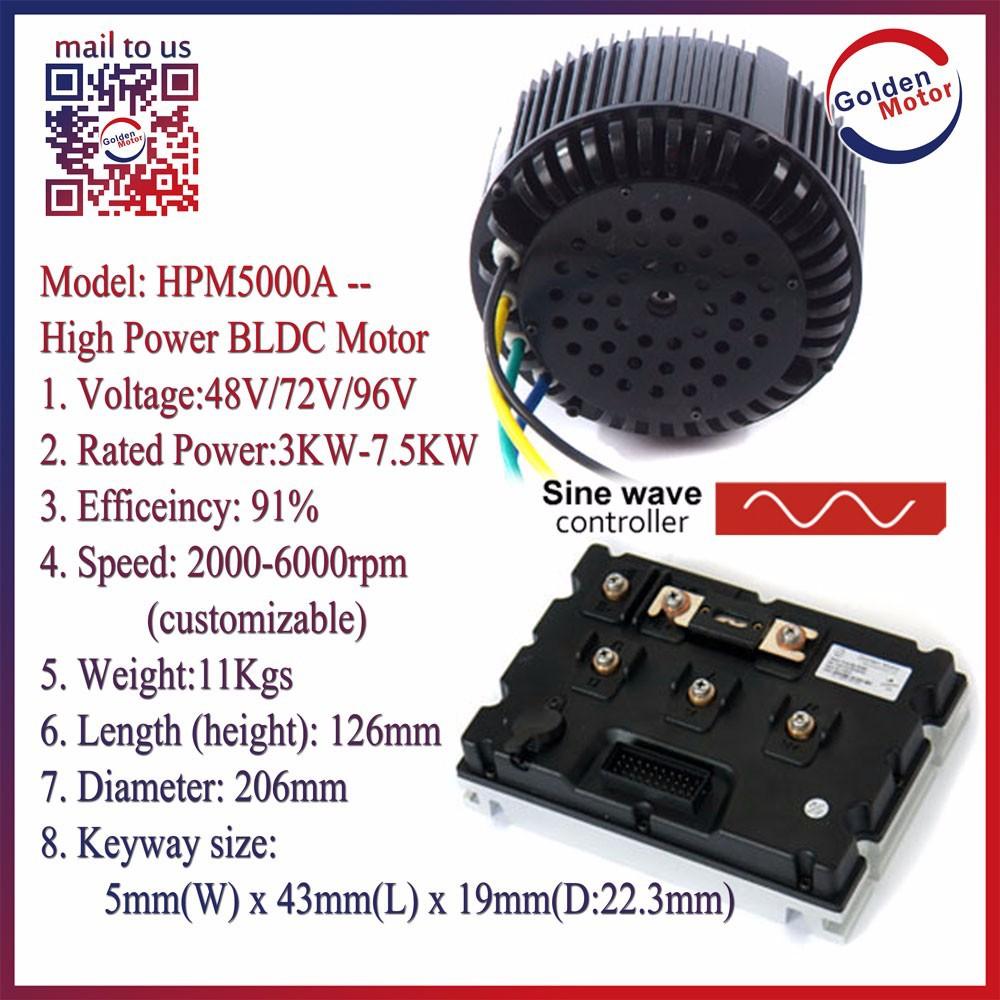 3kw 5kw 10kw 20kw Powerful Bldc Electric Car Motor High