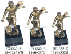 Sports Custom Resin Sculpture World Cup Gift