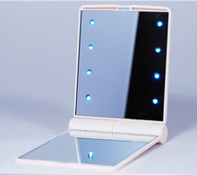 Colorful Landy Pocket Rectangle Portable Bag Double-sided Cosmetic LED Lighting Makeup Mirror