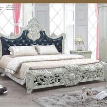 A mano in legno intagliato in stile europeo mobili camera da letto a baldacchino di fantasia classica, letto matrimoniale, nozze mobili