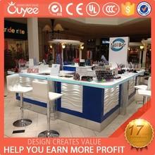 Customize and creative design nail bar, nail kiosk for shoppimg mall from guang zhou factory