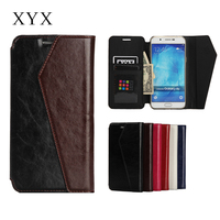 Fashionable and popular wallet case flip leather back cover case for samsung A8