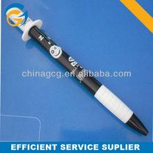 Hot Selling Cartoon White And Black Cap Stylus Ball Pen