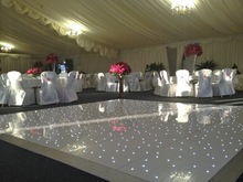 White led dance floor whith showing disco lights