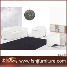 Latest Dubai sofa design comfortable top grain Imported leather living room wooden furniture sofa set TX-227