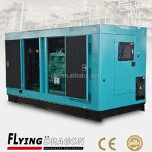 less fuel consumption 50HZ silent generator 250kva electricity closed type generation 200kw