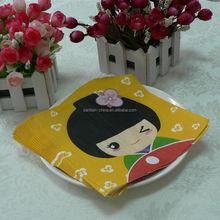 custom printed napkin folding, animal print paper napkins, folded paper napkin