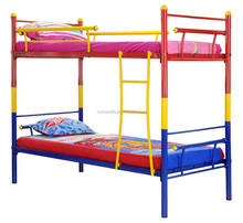 small bunk bed colorful red and blue kid bed bunk