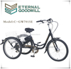 2015 fishion three wheels battery operated tricycle china 200DC seven speeds GW7015E for adults made in china