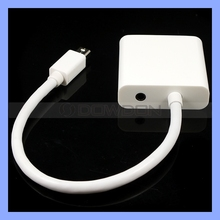 Thunderbolt/Mini DP to VGA Female Adapter Cable with 3.5mm Audio Output for Projectors Monitor and Apple MacBook