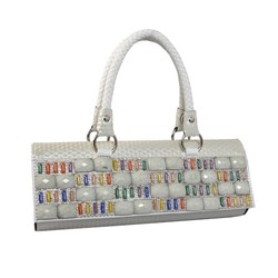 Indian trendy women hand bag with glass purse