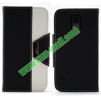 2014 Newest Arrival Mix Color Flip Leather Case for Samsung Galaxy s5 with Lanyard