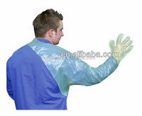 Long Veterinary Animal Obstetric Glove / Disposable PE Plastic Glove