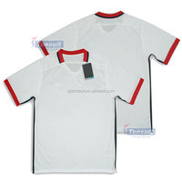 Hot selling lowest price sport jersey 100% polyester fabric top quality soccer jersey uniform