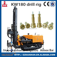 KW180 mini water well drill rigs for sale with air compressor water well drilling rig machine