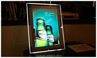 2014 newest design high end acrylic led poster picture frame manufacture