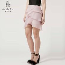 2015 pretty petal layer pencil skirt girly-girl high waist pale pastels skirt