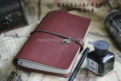 leather writing journal,China notebook customized kraft paper notebook