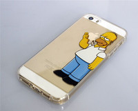 Hot selling 3D printing Simpson TPU PHONE CASE for iphone 6! High Impact plastic case for Iphone